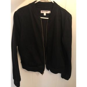 American apparel black denim bomber jacket